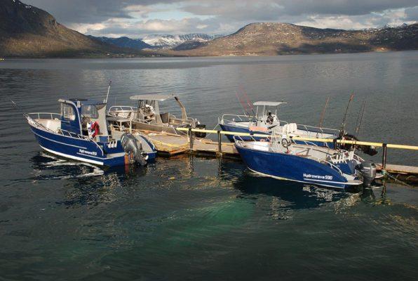 boats at a pier